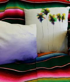 Sharpie watercolor pillows