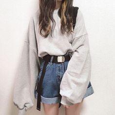 Edgy Outfits, Teen Fashion Outfits, Korean Outfits, Retro Outfits, Cute Casual Outfits, Outfits For Girls, Korean Girl Fashion, Ulzzang Fashion, Korean Street Fashion