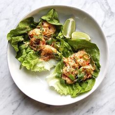 Hi Again it's @thedefineddish and I  just finished whipping these up on insta stories!  This recipe is stupid Easy and stupid Good!!! And over at @thedefineddish I am all about that! These Bang Bang Shrimp Lettuce Cups are such a fantastic and a super easy weeknight dinner! They are also fun to serve as an appetizer when entertaining (and you could make the Mongolian beef I posted the other day as the main course!!) #  By the way I am hosting my final giveaway today with @primalkitchenfoods…