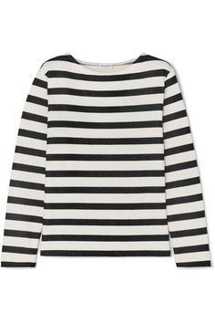 ebb36b7016b SAINT LAURENT - Striped Loopback Cotton-jersey Sweatshirt - Ivory
