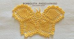 Borboleta passo a passo   Croche.com.br
