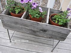 Chipping with Charm: Old Crate Planters