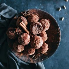 Flavored with warming spices like anise, cardamom and cinnamon, these fine chocolate truffles make the best Christmas dinner treat.