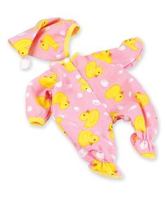 Love this Pink Duck Outfit for 19'' Doll on #zulily! #zulilyfinds