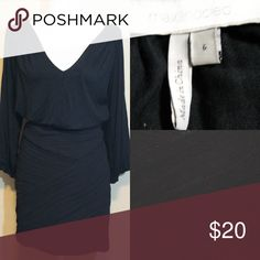 MAX AND CLEO black long sleeve Bandage dress Long 3/4 sleeve dress with chiffon bandage style skirt bottom top is dolman style very comfy Max & Cleo Dresses Mini
