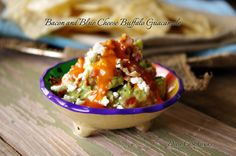Can't you taste all the flavors now? Bacon and Blue Cheese Buffalo Guacamole