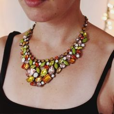 Use permanent markers and nail polish to create candy colored statement jewelry.