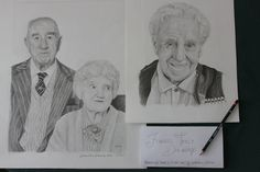 A portrait of my Grandfather and a commission of their Grandparents. Fine Art Drawing, Art Drawings, France Drawing, Welsh, Grandparents, The Ordinary, In This Moment, This Or That Questions, Portrait