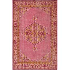 Found it at Wayfair - Ritvik Hot Pink/Gold Oriental Rug