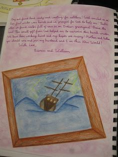 Waldorf ~ 7th grade ~ Age of Exploration and Discovery ~ Mayflower Letter page 2