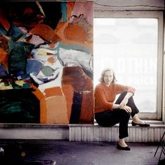 American Abstract Expressionist painter Grace Hartigan from LIFE magazine circa 1957 Joan Mitchell, Modern Art, Contemporary Art, Picasso Paintings, Cy Twombly, New York Art, Art Moderne, Henri Matisse, Art Plastique