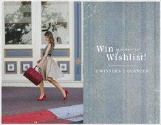 I just entered Ruche's Win Your Wishlist giveaway! http://shopruche.com/win-your-wishlist.html You should too! Two winners will be selected on December 5th to win $250 towards their perfect wardrobe!