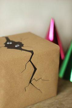 Araignée sur l'emballage de votre cadeau original