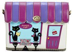 Vendula London Women Designer Handbag Cafe Faux Leather Shoulder Box Clutch Bag Crossbody White