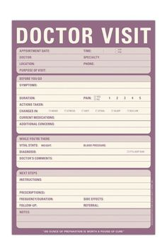 Knock Knock Doctor Visit Notepad - Free Shipping