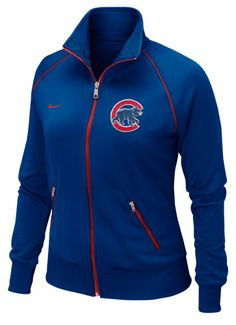 Chicago Cubs Women's Royal Full Zip Track Jacket by Nike (3.19.12)