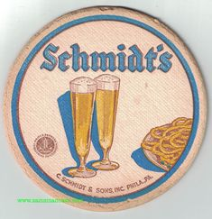 Schmidt's Beer Coaster Beer Cap Coasters, Schmidt Beer, Beer Caps, Beer Humor, Brewing Co, Craft Beer, Nostalgia, Drinks, Funny
