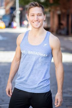"""Fit For Broadway"" Men's Tank (Blue)"