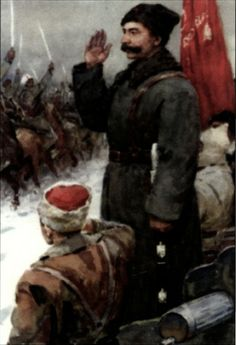 Russian Civil War. Red Army. General Budenny.