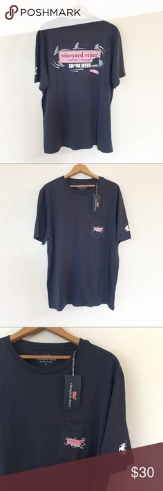 20ebc6e560 VINEYARD VINES | Shark Week Graphic T-Shirt Brand new with tags. Features: