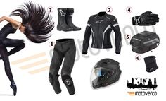 #motorcycle #woman #collection WOMAN COLLECTION / BAYAN KOLEKSİYON  http://on.fb.me/1rfPf9U  #alpinestars #airoh #helmet #boots #gloves #shad #extracomfort #neckwarmbase #tankbag #leatherjacket #leather #leatherpants