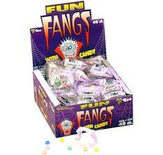 Glow in the Dark Fun Fangs Candy Packs: 48-Piece Box