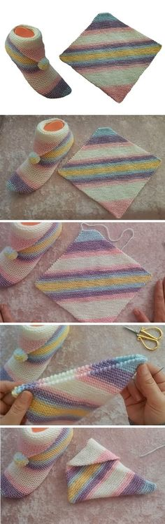 Simple Step by Step Slippers Tutorial Simple Step by Step Slippers Tutorial – Design Peak The post Simple Step by Step Slippers Tutorial appeared first on Do It Yourself Fashion.Simple Step by Step Slippers Tutorial – Design Peak Crochet 3 D Easy Bean Loom Knitting, Knitting Socks, Knitting Patterns Free, Knit Patterns, Free Knitting, Knitting Ideas, Knitting Designs, Sewing Patterns, Gestrickte Booties