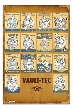 Fallout 4 Vault - Tec Poster | iPosters