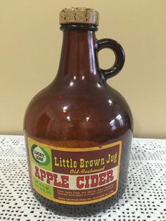 Vintage Lucky Leaf Little Brown Jug Apple Cider Bottle | eBay
