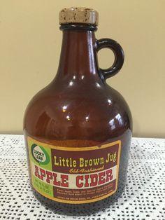 Vintage Lucky Leaf Little Brown Jug Apple Cider Bottle | eBay