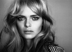 wavy bangs + bold brows