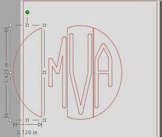 Silhouette School: Silhouette Circle Monogram Tutorial {Free Font}