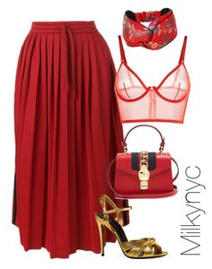 """""""Untitled #992"""" by milkynyc ❤ liked on Polyvore featuring Gucci and La Perla"""