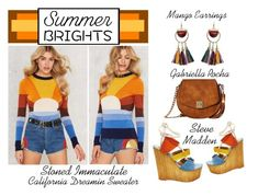 """""""Summer Brights - The Rainbow Connection"""" by latoyacl ❤ liked on Polyvore featuring Gabriella Rocha, MANGO and Stoned Immaculate"""