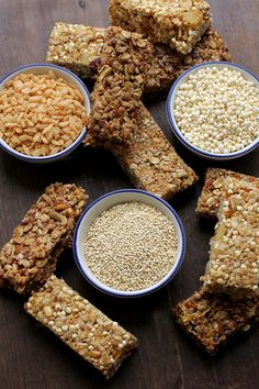 Homemade Cereal Bars #glutenfree - [ OilsNetwork.com ] #breakfast