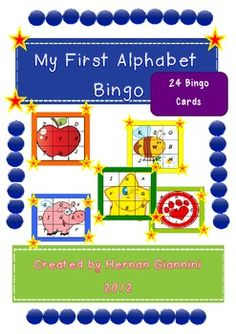 MY FIRST ENGLISH ALPHABET (24 BINGO CARDS)