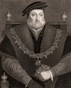 Charles Brandon, 1st Duke of Suffolk, 1st Viscount Lisle (1484-1545). Through his third wife Mary Tudor, he was brother-in-law to Henry VIII and grandfather of Lady Jane Grey. When Mary Tudor died in 1533, he married his 13 year old ward Catherine Willoughby three months later. He was nearly 50. The new bride was betrothed to his son, but the boy was too young and Brandon did not want to lose her lands.