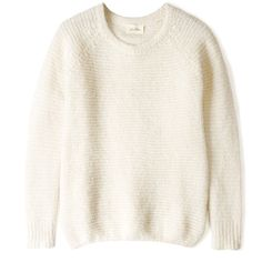 American Vintage Alpaca Knit Textured Jumper (2.770 ARS) ❤ liked on Polyvore featuring tops, sweaters, shirts, jumpers, long-sleeve shirt, ribbed knit sweater, long sleeve knit shirt, ribbed sweater and alpaca sweaters