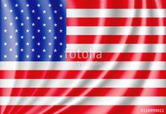Vector: USA flag