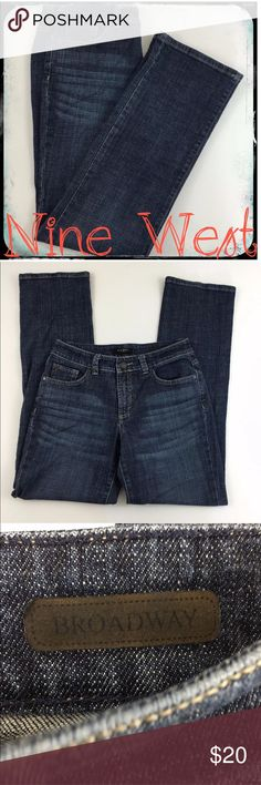 Nine West Jeans Broadway Size 6 Waist 27 Inches Nine West Jeans Broadway Size 6 Waist 27 Inches  Style: Broadway  Size: 6 Waist 27 Inches Measurements: Rise 9 Inches and Inseam 31 Inches  WP4 179 Nine West Jeans