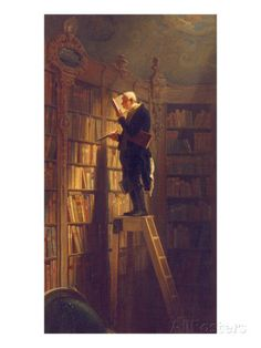 The Book Worm, about 1850 Giclee Print by Carl Spitzweg at AllPosters.com