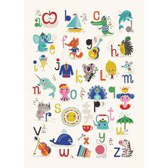 NEW * ABC alphabet print (English) - Helen Dardik for Petit Monkey. Available at The Pippa & Ike Show