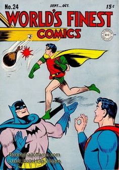 Superman and Batman will be working Robin's corner in his upcoming fight. The opponent has not yet been named but rumor has it as Mickey Mouse in an over the weight bout.  Boxing Hall of Fame - Google+  boxinghalloffame.com