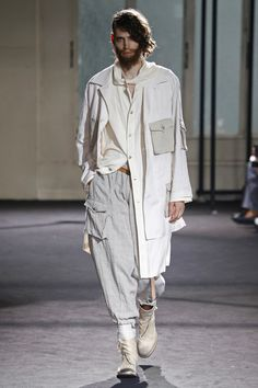 Visions of the Future // Yohji Yamamoto | Menswear - Spring 2017 | Look 7