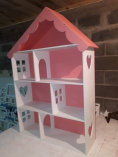 The vector file Laser Cut Dollhouse Template DXF File is AutoCAD DXF ( .dxf ) CAD file type, size is KB, under puzzle, doll house vectors. Diy Dollhouse, Dollhouse Miniatures, Routeur Cnc, Doll Storage, Diy And Crafts, Crafts For Kids, Barbie Doll House, Barbie Room, Doll House Plans