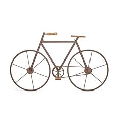 International Multicolored Metal/Wood Bicycle Wall Art (MTL/Wood Bicycle Wall ART)
