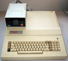 Our first home computer: the Apple II-compatible Franklin Ace 1000.