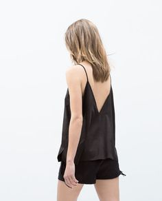 FAUX SUEDE TOP-Tops-TRF   ZARA Singapore