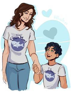 Sally and Percy Jackson