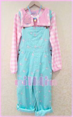 kawaii fairy kei style overalls!